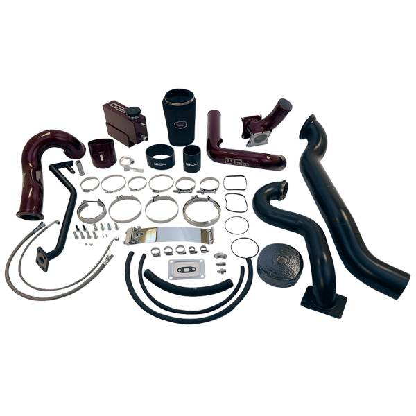 Wehrli Custom Fab - Wehrli Custom Fab | 2007.5-2010 LMM Duramax S400/Stock Twin Turbo Kit Grape Frost Two Stage Powder Coating | WCF100573-GF