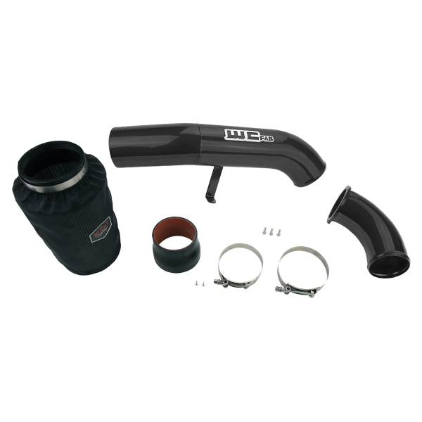 Wehrli Custom Fab - Wehrli Custom Fab | 2001-2004 LB7 Duramax 4 Inch Intake Kit Stage 2 Silver Artery Two Stage Powder Coating | WCF100636-SA