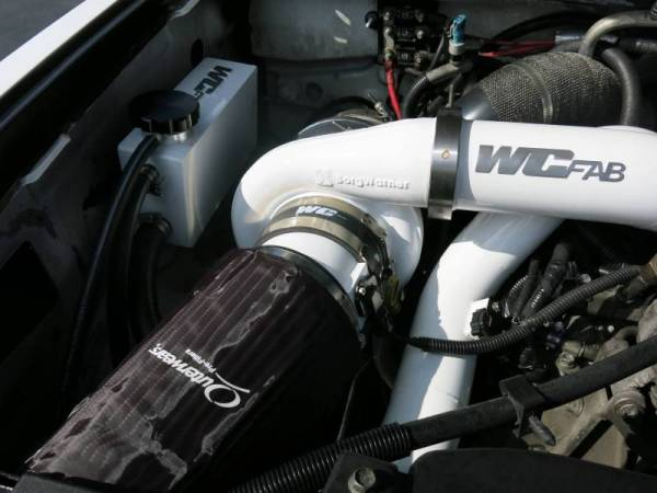 Wehrli Custom Fab - Wehrli Custom Fab | 2007.5-2010 LMM Duramax Twin Turbo Style Coolant Tank Kit Bengal Silver Single Stage Powder Coating | WCF100643-BS