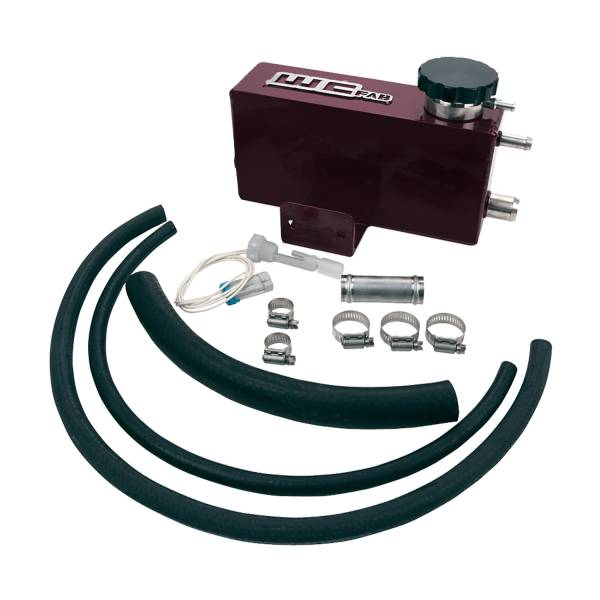 Wehrli Custom Fab - Wehrli Custom Fab | 2001-2006 LB7/LLY/LBZ Duramax Twin Turbo Style Coolant Tank Kit Sparkle Burgundy Two Stage Powder Coating | WCF100642-SB