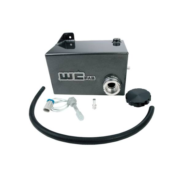 Wehrli Custom Fab - Wehrli Custom Fab | 2001-2006 LB7/LLY/LBZ Duramax OEM Placement Coolant Tank Kit Mica Grey Single Stage Powder Coating | WCF100645-MICG