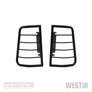 Lighting - Brake Lights - Westin - Westin Sportsman Tail Light Guard Black 39-3005