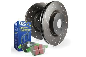 Shop by Part - Brakes - EBC Brakes - EBC Brakes GD sport rotors, wide slots for cooling to reduce temps preventing brake fade. S10KR1127