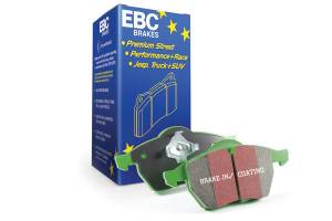 EBC Brakes Greenstuff 2000 series is a high friction pad designed to improve stopping power DP21621/2