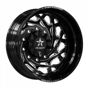 Wheel & Tire - Wheels - RBP Performance - RBP Performance 10R Empire 22x8.25 Rear Outer 8-165.1 et 132 Gloss Black with Machine Groove 10R-22825-86+132ROBG