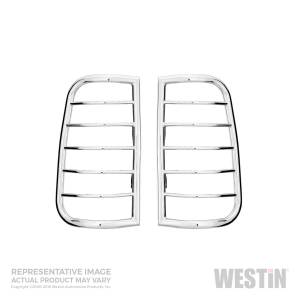 Lighting - Brake Lights - Westin - Westin Sportsman Tail Light Guard Chrome 39-3420