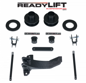 Steering And Suspension - Lift & Leveling Kits - ReadyLift - ReadyLift 2005-07 FORD F250/F350/F450 2.5'' Front Leveling Kit with Track Bar Bracket 66-2515