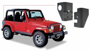 Exterior - Accessories - Bushwacker - Bushwacker Jeep Trail Armor Rear Corner 14001