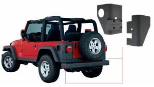 Exterior - Accessories - Bushwacker - Bushwacker Jeep Trail Armor Rear Corner 14004