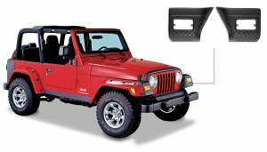 Exterior - Accessories - Bushwacker - Bushwacker Jeep Trail Armor Front Corner 14007