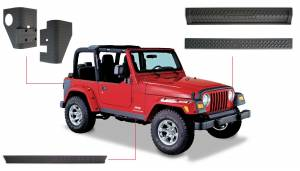 Exterior - Accessories - Bushwacker - Bushwacker Jeep Trail Armor Six Piece 14901