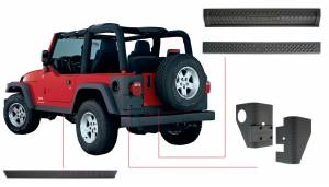 Exterior - Accessories - Bushwacker - Bushwacker Jeep Trail Armor Six Piece 14902