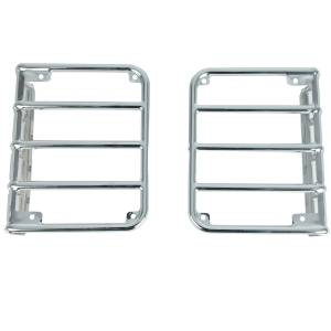 Lighting - Brake Lights - Paramount Automotive - Paramount Automotive Euro Stainless Taillight Guard Chrome 51-0461