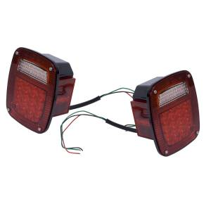 Lighting - Brake Lights - Rugged Ridge - Rugged Ridge Tail Light Kit, LED; 76-06 Jeep CJ/Wrangler 12403.85