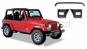 Exterior - Accessories - Bushwacker - Bushwacker Jeep Trail Armor Hood Guard 14005