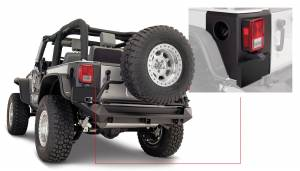 Exterior - Accessories - Bushwacker - Bushwacker Jeep Trail Armor Rear Corner 14009