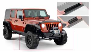 Exterior - Accessories - Bushwacker - Bushwacker Jeep Trail Armor Side Rocker 14012