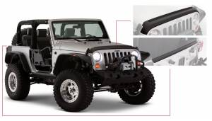 Exterior - Accessories - Bushwacker - Bushwacker Jeep Trail Armor Hood&Tailgt 14013