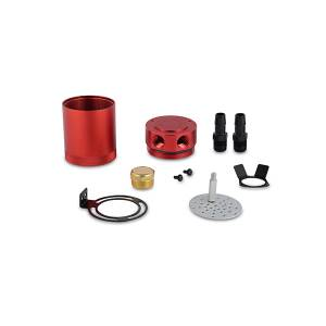 Engine Parts - Oil System - Mishimoto - Mishimoto Mishimoto Compact Baffled Oil Catch Can, 2-Port MMBCC-MSTWO-RD