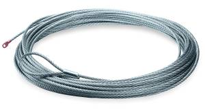Winches and Accessories - Accessories - Warn - Warn 9000 LB Cap 5/16 Inch Dia x 125 Ft Galvanized Wire Rope 25987