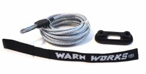 Winches and Accessories - Accessories - Warn - Warn For Warn PullzAll Winches; 7/32 Inch Diameter x 15 Foot Length; Wire Rope 76065