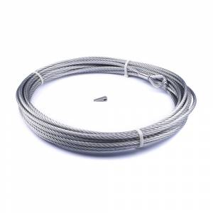 Winches and Accessories - Accessories - Warn - Warn For Warn Zeon-10 Winch 3/8 Inch Diameter x 80 Ft Length Galvanized Aircraft Wire 89213
