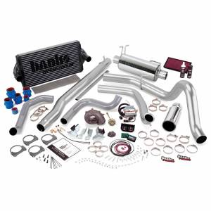 1999-2003 Ford 7.3L Powerstroke - Programmers & Tuners - Banks Power - Banks Power | PowerPack Bundle Complete Power System W/Single Exit Exhaust Chrome Tip 99.5-03 Ford 7.3L F250/F350 Automatic Transmission | 47556