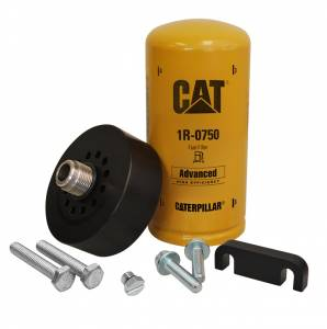 XDP Xtreme Diesel Performance - XDP Xtreme Diesel Performance | CAT Adapter with 1R-0750 Filter Bleeder Screw & Spacer 01-16 GM 6.6L Duramax | XD171