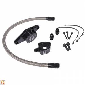 Shop by Part - Cooling System - Fleece Performance - Fleece Performance | Cummins Coolant Bypass Kit VP 98.5-02 with Stainless Steel Braided Line | FPE-CLNTBYPS-CUMMINS-VP-SS
