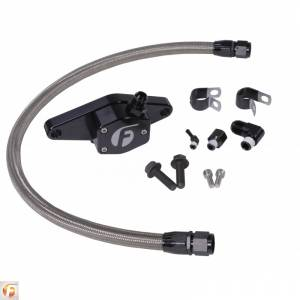 Shop by Part - Cooling System - Fleece Performance - Fleece Performance | Cummins Coolant Bypass Kit 12V 94-98 with Stainless Steel Braided Line | FPE-CLNTBYPS-CUMMINS-12V-SS