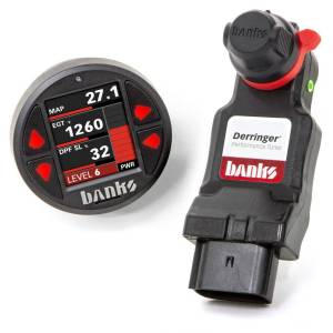 2017+ GM 6.6L L5P Duramax - Programmers & Tuners - Banks Power - Banks Power   Derringer Tuner w/SuperGauge includes ActiveSafety and Banks iDash 1.8 SuperGauge for 2020 Chevy/GMC 2500/3500 6.6L Duramax L5P   67102