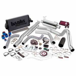 1999-2003 Ford 7.3L Powerstroke - Programmers & Tuners - Banks Power - Banks Power | PowerPack Bundle Complete Power System W/Single Exit Exhaust Black Tip 99.5-03 Ford 7.3L F250/F350 Automatic Transmission | 47556-B
