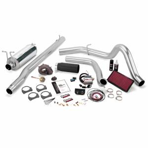 1999-2003 Ford 7.3L Powerstroke - Programmers & Tuners - Banks Power - Banks Power | Stinger Plus Bundle Power System W/Single Exit Exhaust Black Tip 99 Ford 7.3L F250/F350 Manual Transmission | 47523-B