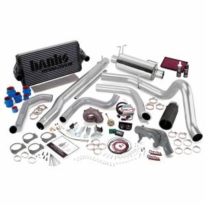 1999-2003 Ford 7.3L Powerstroke - Programmers & Tuners - Banks Power - Banks Power | PowerPack Bundle Complete Power System W/Single Exit Exhaust Black Tip 99 Ford 7.3L F250/F350 Automatic Transmission | 47526-B