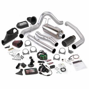 2003-2007 Ford 6.0L Powerstroke - Programmers & Tuners - Banks Power - Banks Power   Stinger Bundle Power System W/Single Exit Exhaust Black Tip 5 Inch Screen 03-06 Ford 6.0L Excursion   46486-B