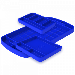 S&B | Tool Tray Silicone 3 Piece Set Color Blue | 80-1002