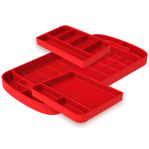 Interior - Interior Accessories - S&B - S&B | Tool Tray Silicone 3 Piece Set Color Red | 80-1001