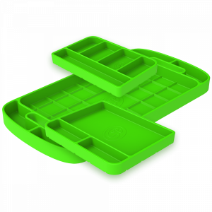 S&B | Tool Tray Silicone 3 Piece Set Color Lime Green | 80-1000