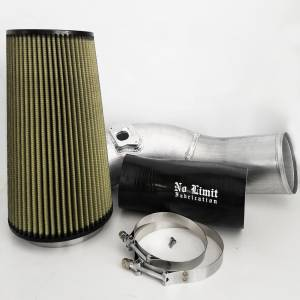 No Limit Fabrication   6.0 Cold Air Intake 03-07 Ford Super Duty Power Stroke Raw PG7 Filter   60CAIRP