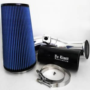 No Limit Fabrication   6.0 Cold Air Intake 03-07 Ford Super Duty Power Stroke Polished Oiled Filter   60CAIPO