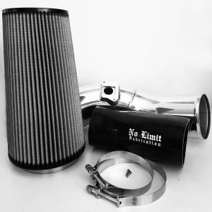 No Limit Fabrication   6.0 Cold Air Intake 03-07 Ford Super Duty Power Stroke Polished Dry Filter   60CAIPD