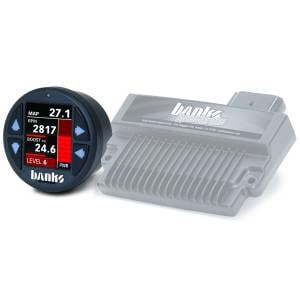 Engine Parts - Parts & Accessories - Banks Power - Banks Power | Banks SpeedBrake with Banks iDash 1.8 Super Gauge for use with 2006-2007 Chevy 6.6L, LLY-LBZ | 61432