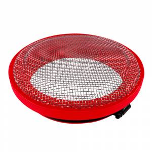 Gas Vehicles - Ram - S&B - S&B | Turbo Screen 4.0 Inch Red Stainless Steel Mesh W/Stainless Steel Clamp | 77-3003