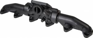 Exhaust - Exhaust Manifolds - ATS Diesel Performance - ATS Diesel Performance | 1998.5 And Up 5.9L Or 6.7L Cummins 3-Piece Pulse Flow Exhaust Manifold Kit T-4 Turbo Flange Center Wastegated Ceramic Coated Black | 2049452218
