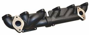 Exhaust - Exhaust Manifolds - ATS Diesel Performance - ATS Diesel Performance | 2007.5 And Up 6.7L Cummins 2-Piece Pulse Flow Exhaust Manifold Kit T-3 Turbo Flange EGR Compliant Ceramic Coated Black. | 2049202326