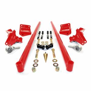 Steering And Suspension - Suspension Parts - HSP Diesel - HSP Diesel   2011-2016 Chevrolet / GMC 70 Inch Bolt On Traction Bars 4 Inch Axle Diameter Blood Red   535-2-HSP-BR