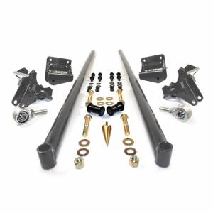 Steering And Suspension - Suspension Parts - HSP Diesel - HSP Diesel | 2001-2010 Chevrolet / GMC 75 Inch Bolt On Traction Bars 3.5 Inch Axle Diameter Dark Grey | 035-3-HSP-DG