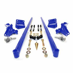 Steering And Suspension - Suspension Parts - HSP Diesel - HSP Diesel | 2001-2010 Chevrolet / GMC 58 Inch Bolt On Traction Bars 3.5 Inch Axle Diameter Candy Blue | 035-1-HSP-CB