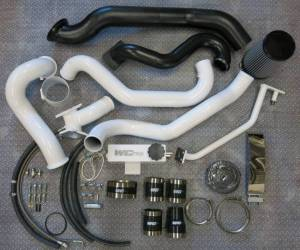 Wehrli Custom Fab - Wehrli Custom Fab | 2004.5-2005 LLY Duramax S400/Stock Twin Turbo Kit Black Hammer Tone Single Stage Powder Coating | WCF100571-BHT - Image 1