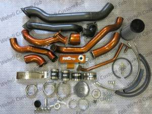 Wehrli Custom Fab - Wehrli Custom Fab | 2001-2004 LB7 Duramax S400/Stock Twin Turbo Kit Sparkle Copper Two Stage Powder Coating | WCF100570-SC - Image 1